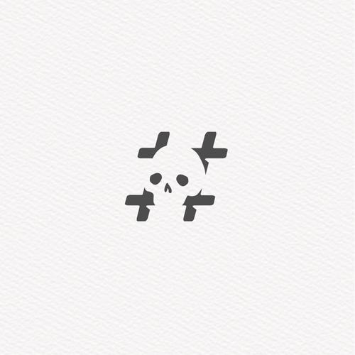 Clean & modern hipster logo that yells bravado