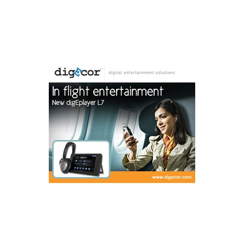 In-flight Entertainment banner ads targeting Airlines