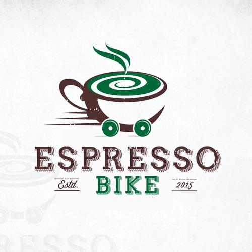 "Bold Logo For ""ESPRESSO COFFEE BIKE"""