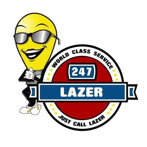 Logo Concept for 247 Lazer