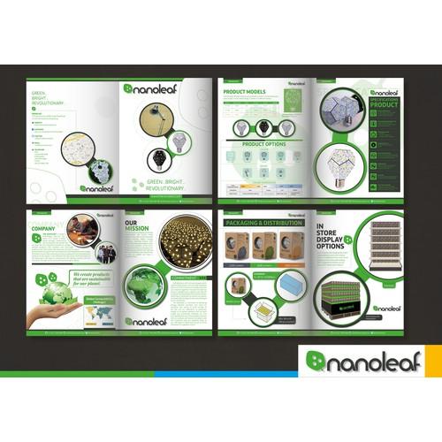 Design Nanoleaf's Brochure for the world's most energy efficient light bulb!