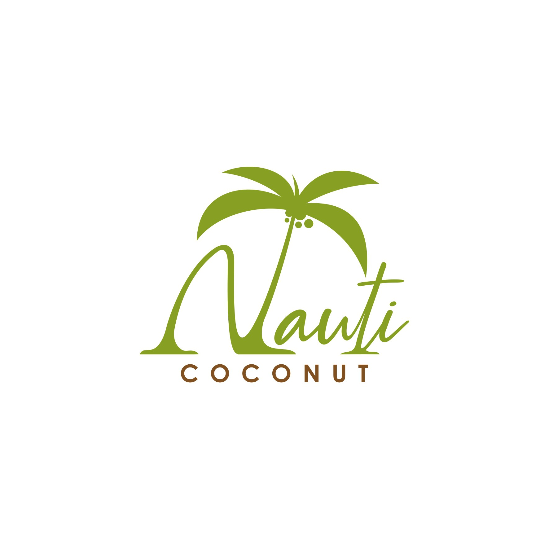 """Design the perfect logo for """"The Nauti Coconut"""" business located in a tropical setting"""