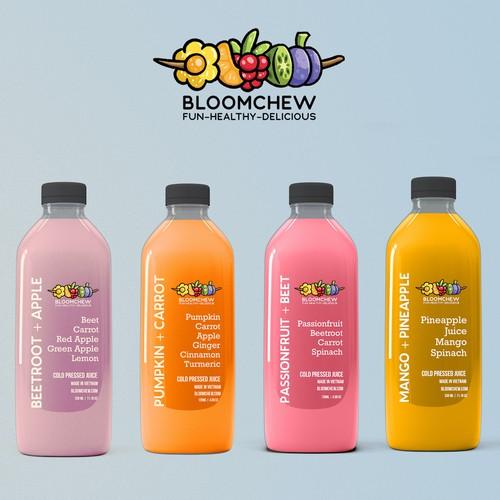 Label Design For Pressed Juices