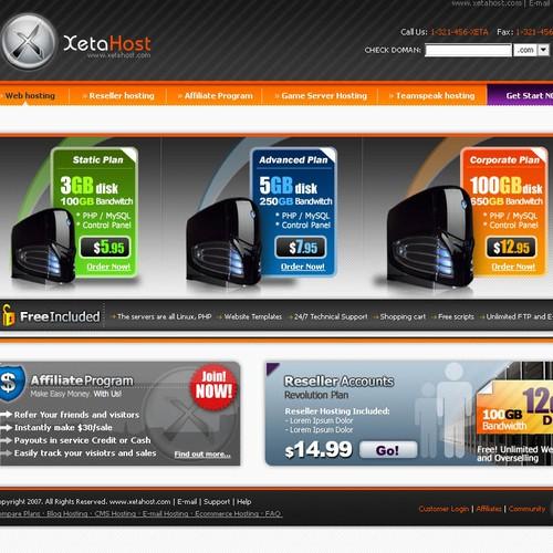 Sharp Web 2.0 Hosting Company Design