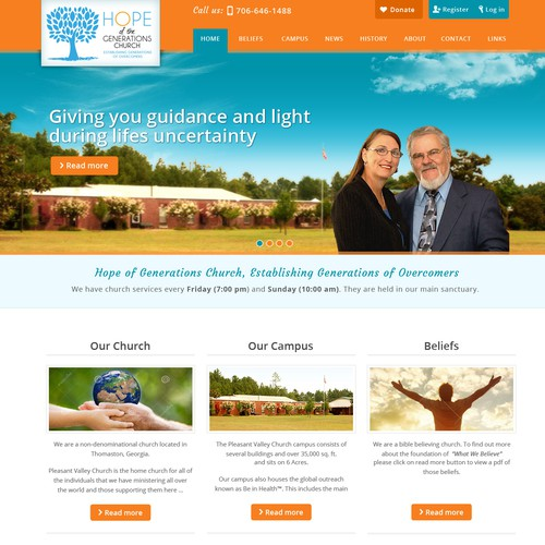 Web design for Generations Church