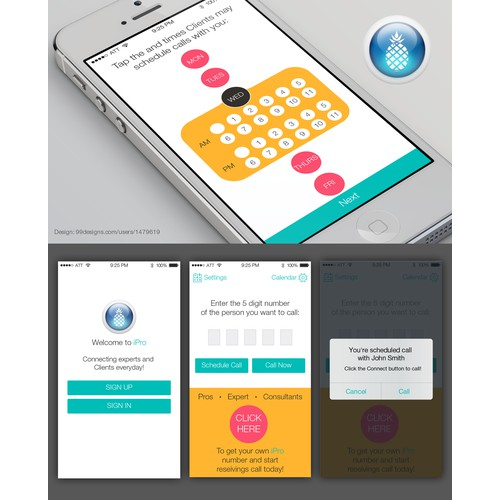 Mobile app artwork and graphics