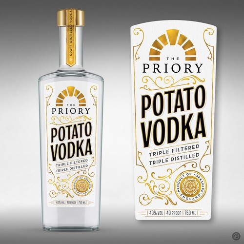 Potato Vodka label