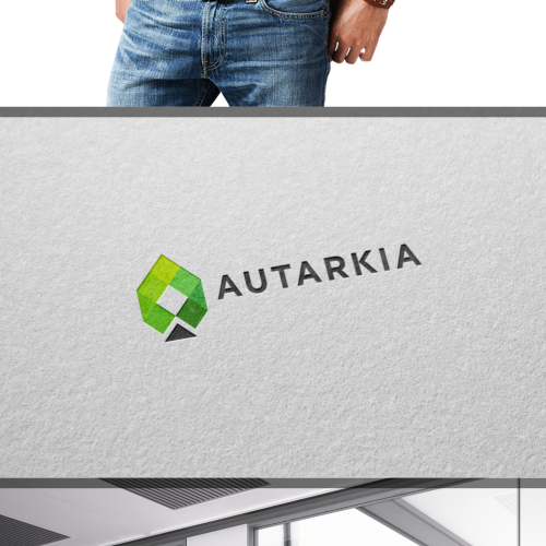 Simple and modern concept for sustainable products, services and technology company (AUTARKIA)