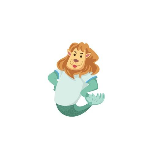 Merlion Mascot