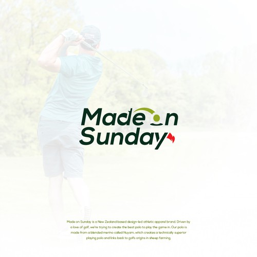 logo with a hidden message for a golf apparel company