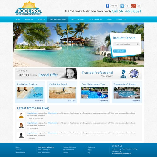 Website Design for Pool Pro