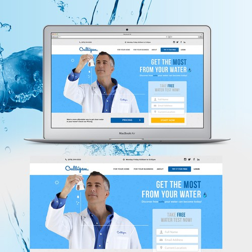 Culligan Water Web-page Design