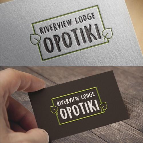 Logo Design for Riverview Lodge Opotiki