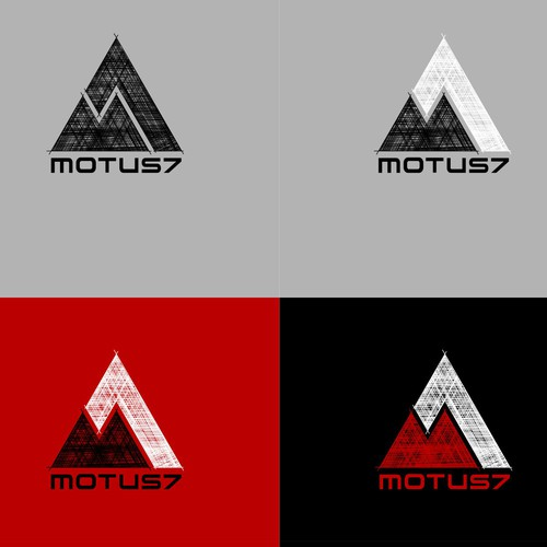 Logo for Motus7 in Sketch Tattoo/Snowboard Style