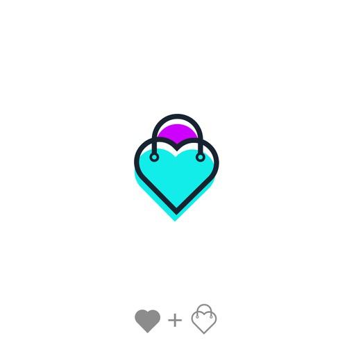 Heart Bag logo Concept