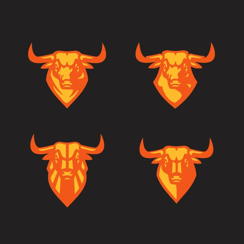 Bull illustrative icons