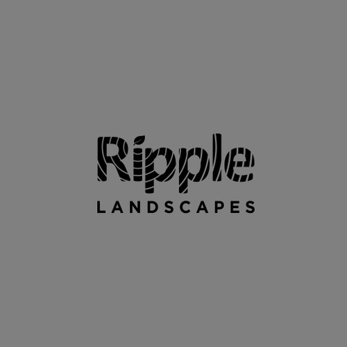 Elegant ripple logo concept
