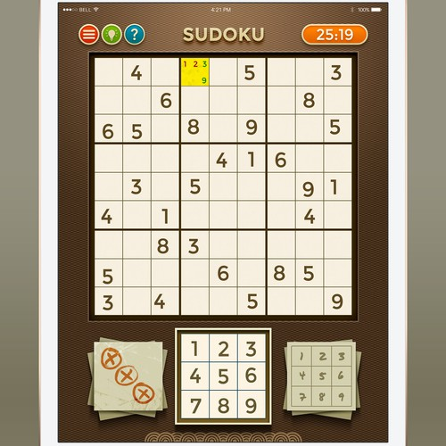Sudoku game for web and mobile device