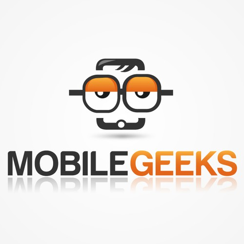 "Logo proposal #1 for ""Mobile Geeks"""