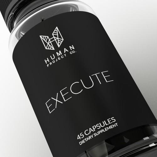 Nootropic supplement needs a modern/minimalistic label design