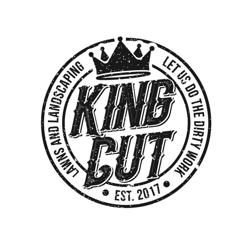 Vintage Logo Concept for King Cut Lawns and Landscaping