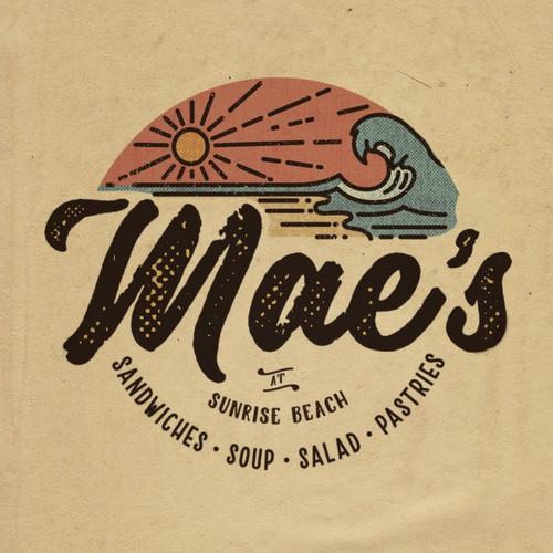 Vintage Beach Themed Logo