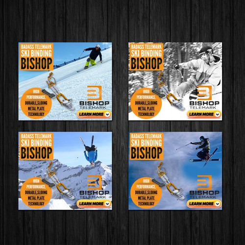 Creating badass banner ads for a new high performance telemark ski binding
