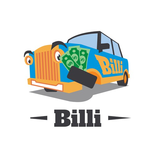 Mascot style logo for used car price estimation service
