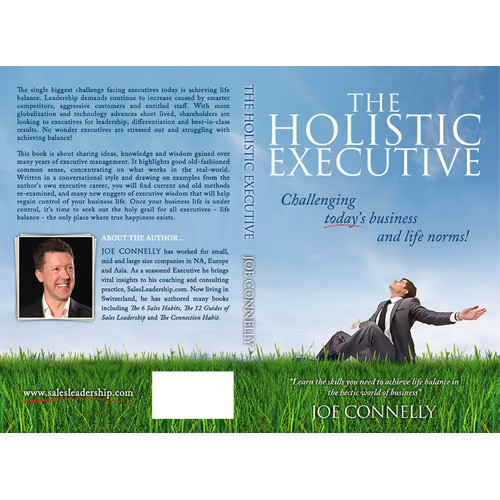 "Create a fresh, bright and modern book cover for my new book ""The Holistic Executive"""