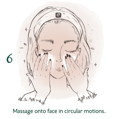 beauty product concept instructions