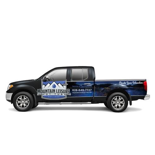 Wrap Design for Mountain Leisure Truck