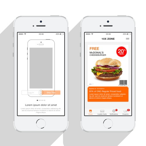 Be the designer of our Loyalty and Coupon application for iPhones with an IOS7 design style