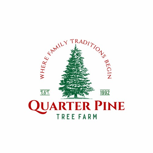 Vintage logo for Quarter Pine