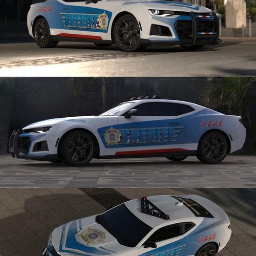Car wrap - sheriff theme