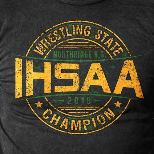 IHSAA wrestling state shirt