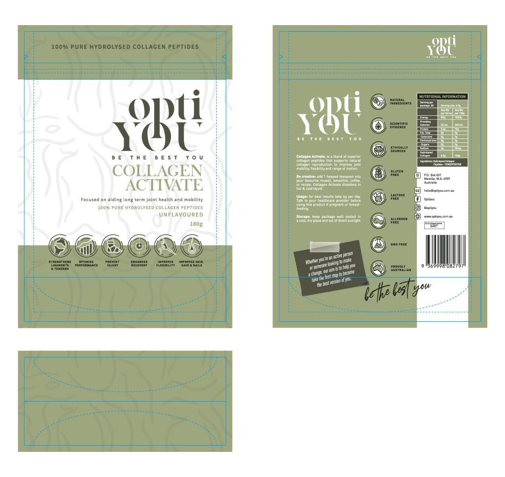 Packaging for consumer supplement - collagen