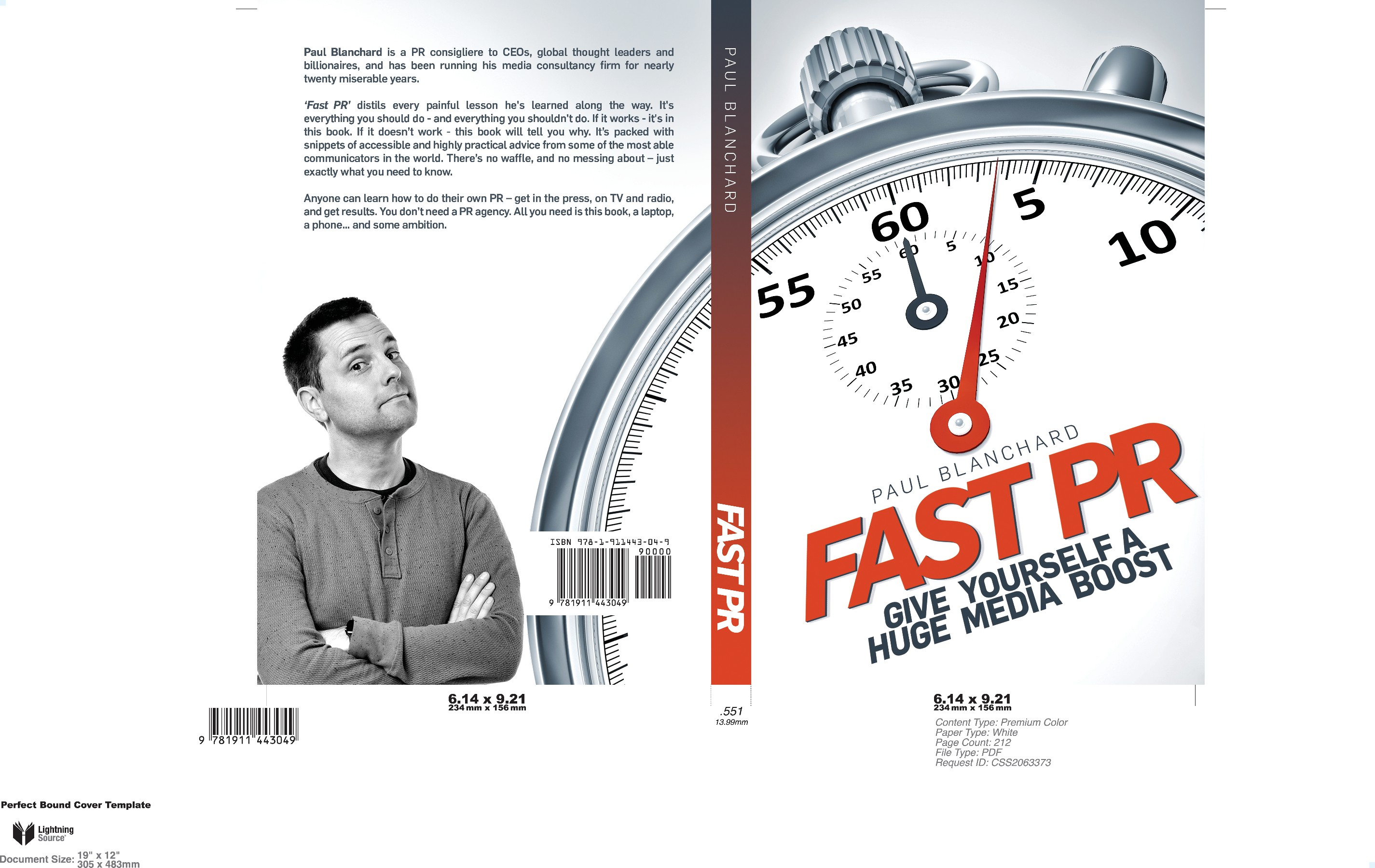 "Clean, clear and engaging book cover design needed for ""Fast PR"" - the Go-To publication on all things Public Relations"