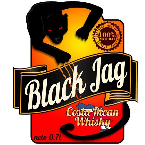 Create the next logo for Black Jag Whiskey