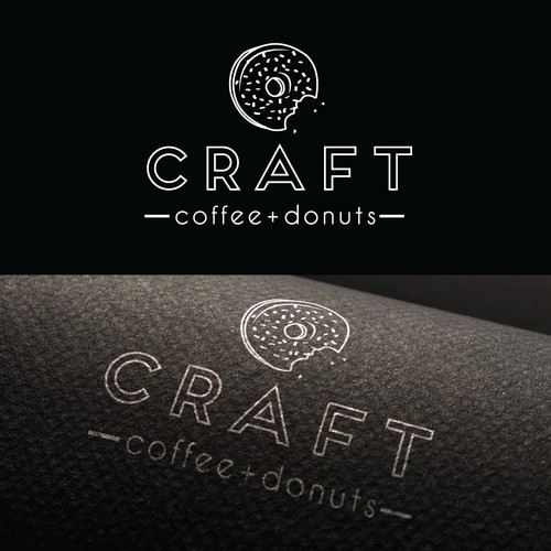 Unique Logo for Coffee & Donut Shop