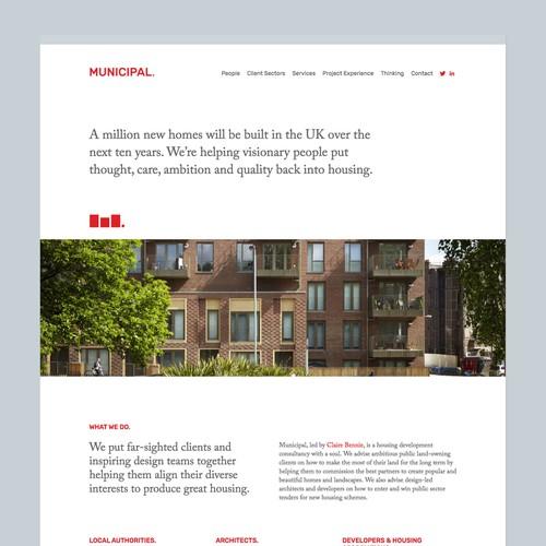Branding & website for a housing development consultancy