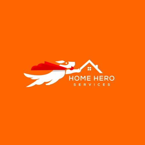 Home hero service logo design