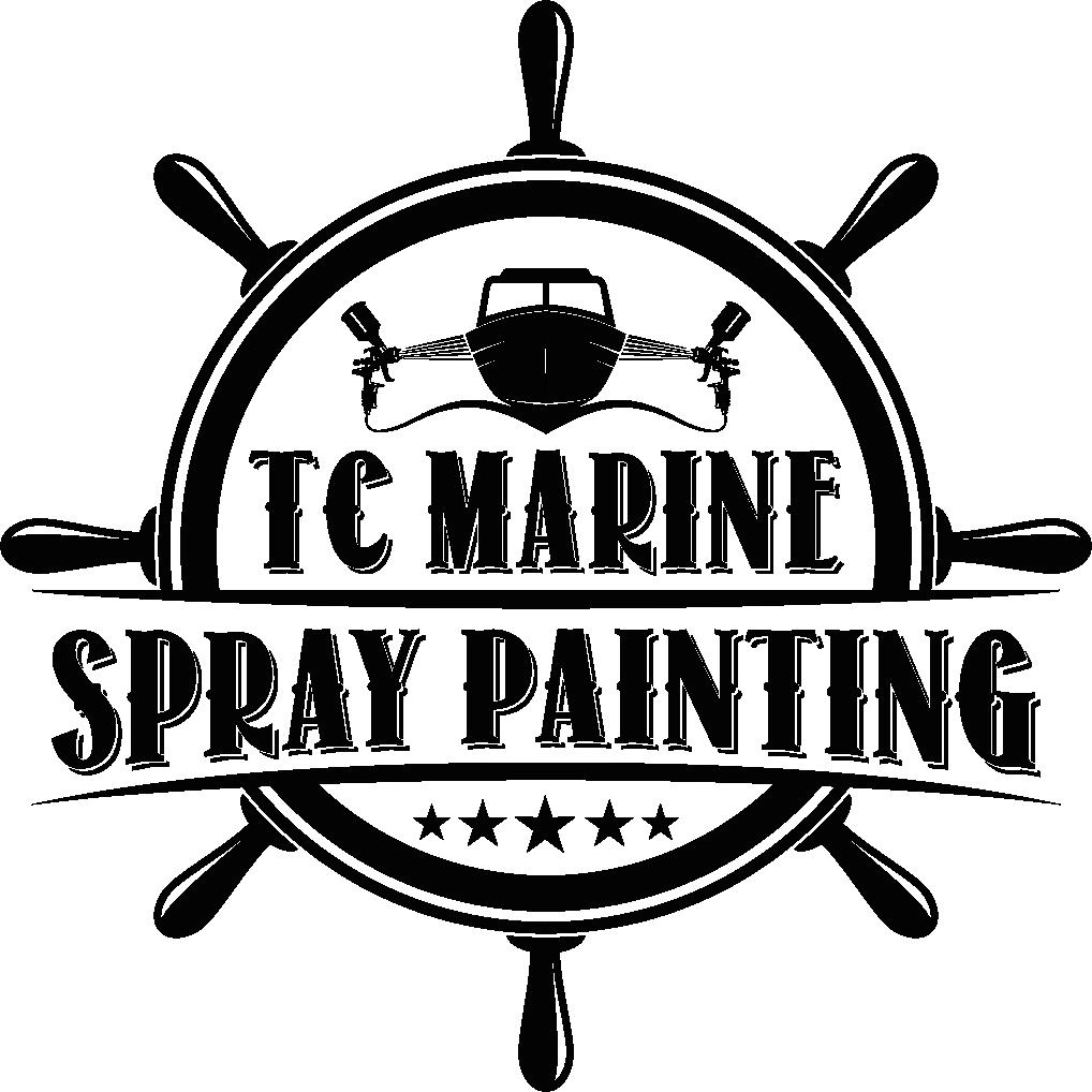 Marine spray painting, old school design