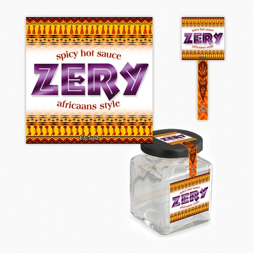 Jar label for Zery (a new hot sauce product!)