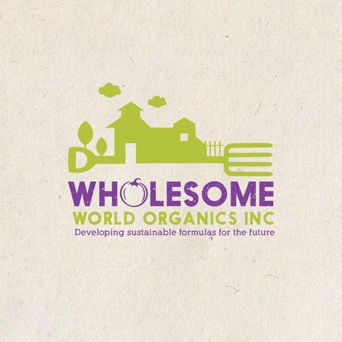 bold logo for organic farm