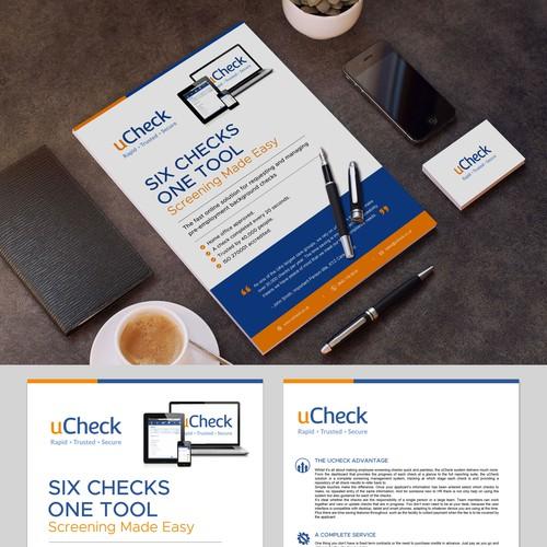 Brochure showcasing uCheck's Online Solution