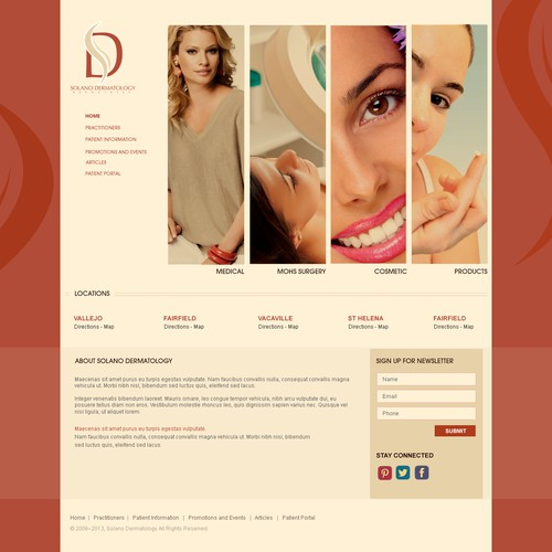 Web Design For Solano Dermatology