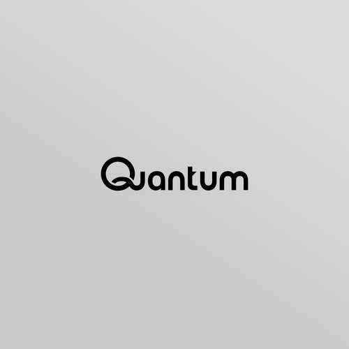 Simple modern logo for quantum