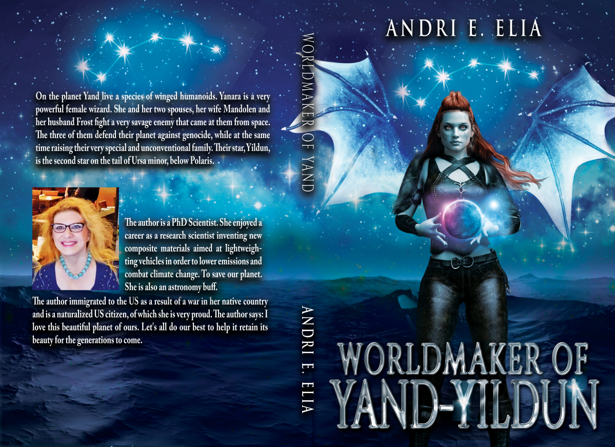 Full front and back cover for Worldmaker of Yand