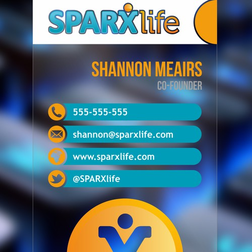 New and edgy Business card for a hot tech startup! SPARXlife