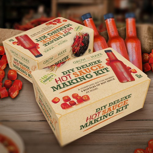 Packaging for deluxe hot sauce